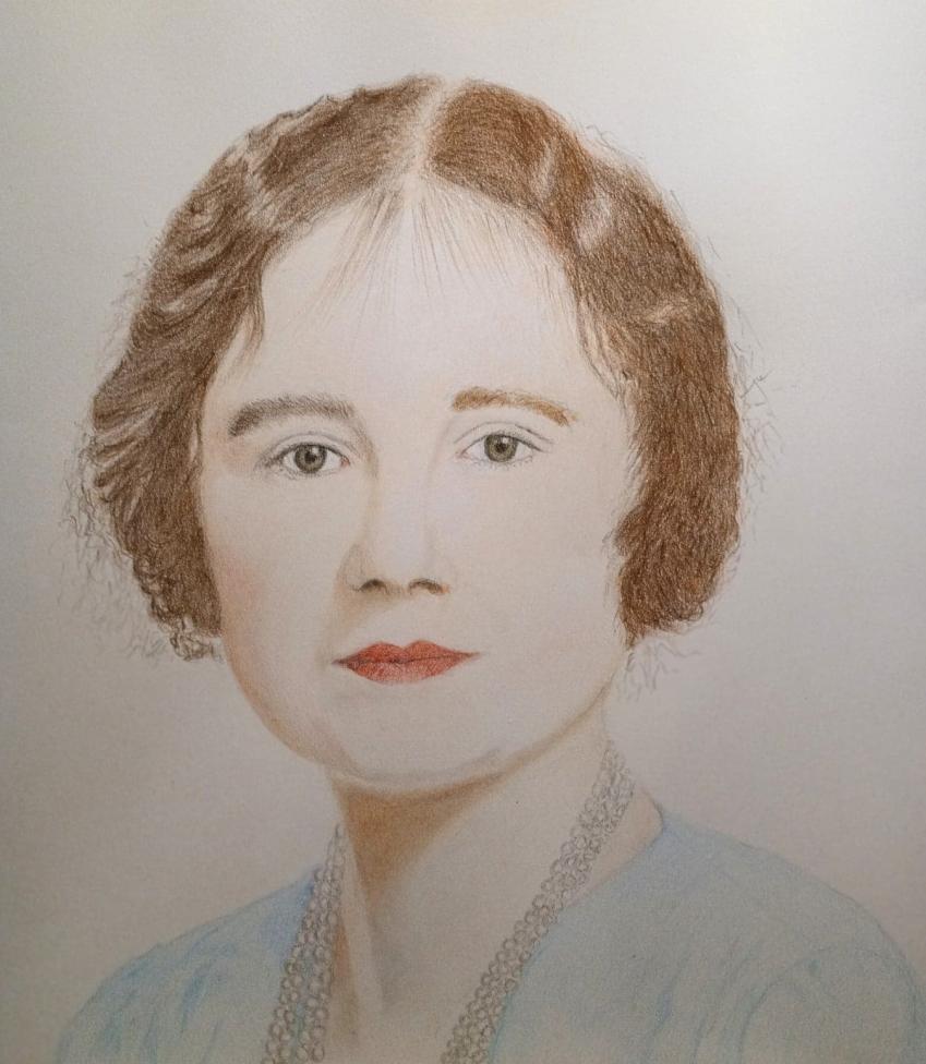 Elizabeth Bowes-Lyon by MrTibbs